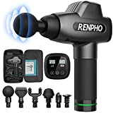 Massage Gun, RENPHO C3 Deep Tissue Muscle Massager, Powerful Percussion Massager Handheld with Portable Case for Home Gym Workouts Equipment, Back Neck Shoulder Soreness Stiffness Knots Tension Relief