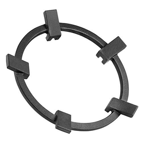 LinkIdea Wok Ring for Gas Stove, 5 Claw Non-Slip Black Wok Burner Stand Cast Iron Stove Accessories, Kitchen Wok Support Ring Cooktop Burner Gas Cooker Hobs Wok Stand Pan Rings