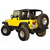 Rampage Products 109535 Frameless Trail Top for 1997-2006 Jeep Wrangler TJ, Black Diamond w/Tinted...