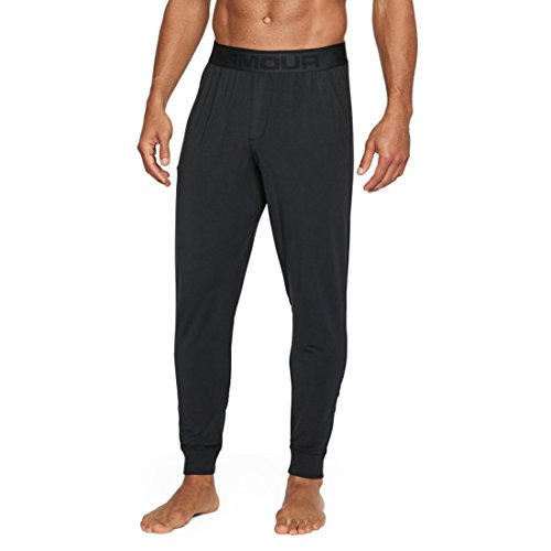 Under Armour Men's Athlete Ultra Comfort Recovery Pants Sleepwear,Black /Carbon Heather, X-Large