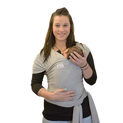 Fascia Porta Bambino Kao - Marsupio Bebè Porta Neonato - Fascia Elastica Per Bambini e Neonati Fino a 15kg,Ottimo Regalo Neonato 0-36 Mesi, Design By