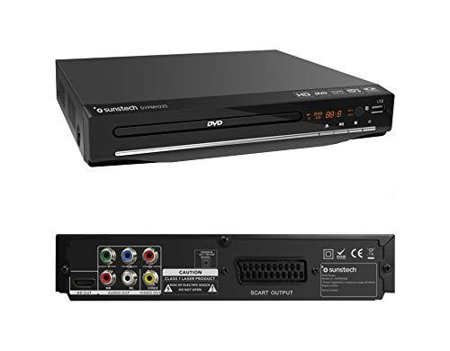 Sunstech DVPMH225 | Reproductor DVD Compacto, Color Negro