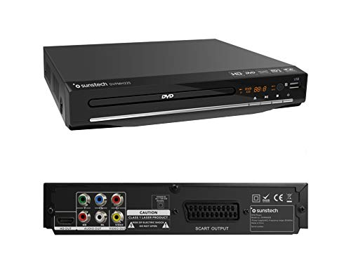 Sunstech DVPMH225 | Reproductor DVD Compacto, Color Negro