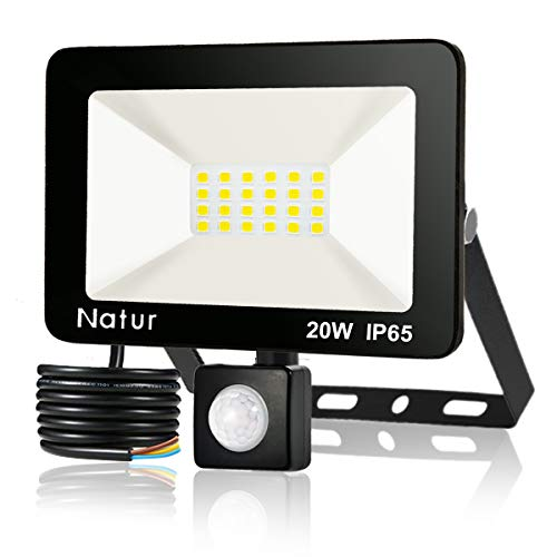 20W Foco LED con Sensor de Movimiento, Proyector Led Exterior...