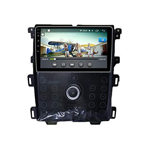Android 10 Autorradio Navegación del Coche Unidad Principal Estéreo Reproductor Multimedia GPS Radio IPS 2.5D Pantalla táctil porFord Edge 2013-2015