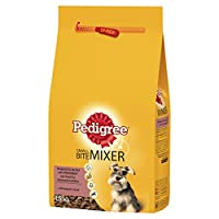 Complementary pet food for adult dogs Wet food for balanced nutrition Mixture of wet and dry food together is a healthy way to feed your dog Contains smaller kibbles that are easier to chew for smaller dogs