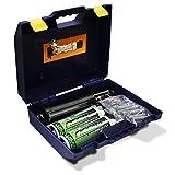 BricoLoco Kit Ancoraggio Chimico Professionale | Tassello Chimico e Accessori | Astuccio Professionale da -> 2 Tassello Chimico Epossidico 410 ml + 5 ugelli + 1 Pistola + 10 Setacci + 10 Spaghi