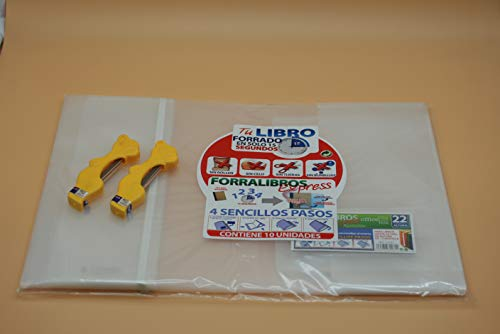 Office Box Lote 10 Forros Express Ajustables Transparentes para Libros 22 cms + 2 Estuches Minas Oso