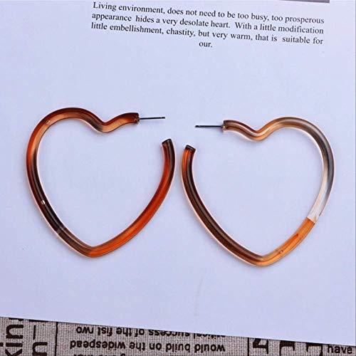 Earings Holiday Mehrfarbige Acryl-Ohrringe für Frauen Mädchen Persönlichkeit Einfache geometrische Anhänger Ohrringe236 Braun
