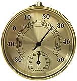 HSJ WDX- Termómetro de higrómetro al Aire Libre Interior Decorativo Temperatura precisa Medidor de Humedad Chic Monitor analógico Mensaje meteorológico Preciso (Color : Gold)