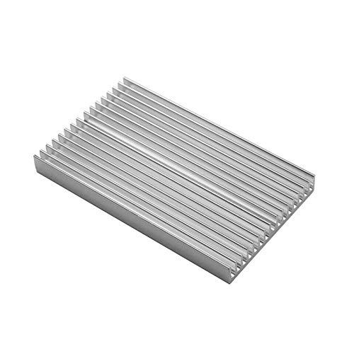 VIKTK 100 * 60 * 10MM Fai da Te Fai da Te Fai da Te Fai da Te Alluminio SISSISCE Heat Shade Radiator Grille Chip Fit per IC Light Power Transistor Sparkmaker SLA 3D Parti della Stampante