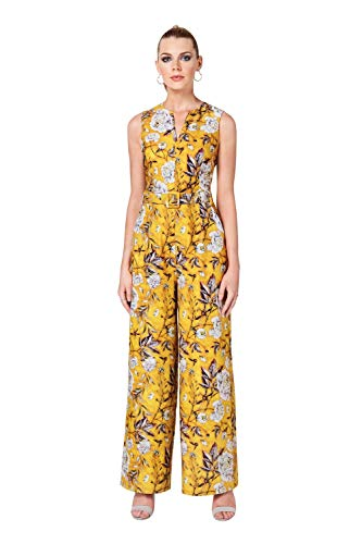 Paper Dolls dames belted print jumpsuit