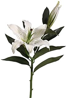 Casablanca Lily Artificial Flower in White - 27.5