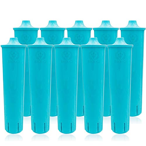 10 x BROUGI Wasserfilter kompatibel mit original JURA CLARIS BLUE Filterpatrone ENA Micro Impressa Filter für Kaffeevollautomat Kaffeemaschine geeignet für Entkalker effektiv mit Entkalkungstabletten