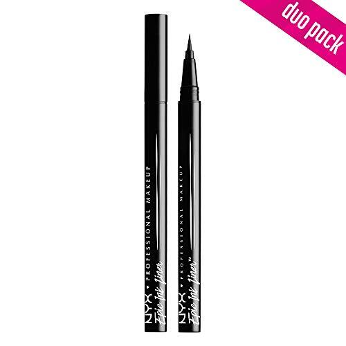 NYX Professional Makeup Epic Ink Eye Liner, Filzstift, Wasserfest, Vegane Formel, 2er Pack, Shade 01