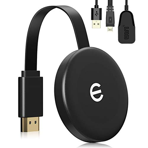 WiFi-Display-Dongle, kabelloser HDMI-Display-Dongle-Adapter, 4K HD für großen Bildschirm, unterstützt Miracast DLAN Airplay, kompatibel mit i-OS/Android/Pixel/Nexus/Mac/Windows (Black)