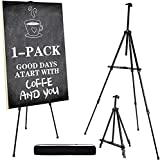 """Artify 73 Inches Double Tier Easel Stand, Adjustable Height from 22-73"""", 3 in 1, for Painting and Display with a Carrying Bag and Spare Parts 1PACK"""