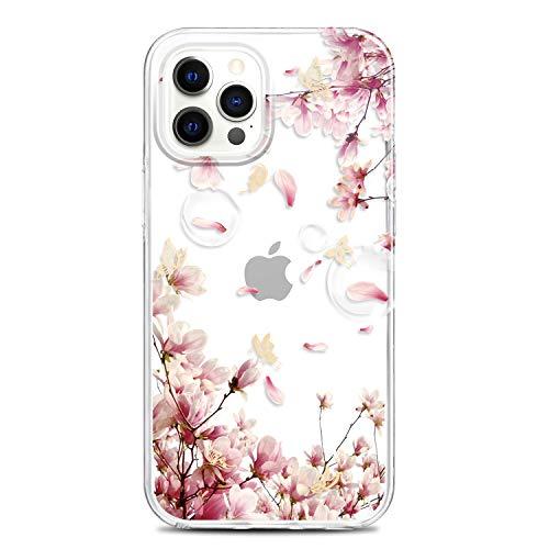 RXKEJI iPhone 12 Pro Max Handyhülle TPU Silikon Weiche Durchsichtig Klar Transparent Schutzhülle Handytasche Flexibel Handy Hülle für iPhone 12 Pro Max 2020 6.7