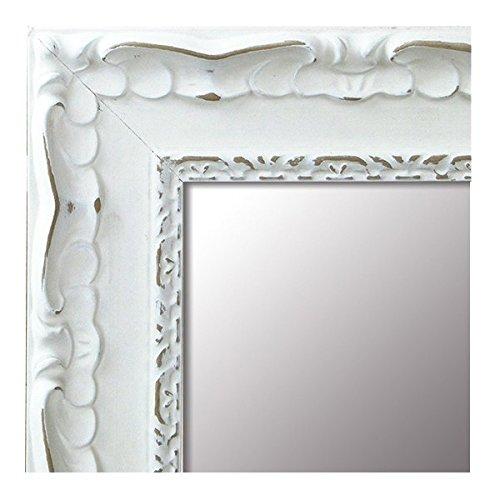 Espejo de Pared - Tamaño 64x164 - Madera - Fabricado en España - Espejo Decorativo Barroco - Vintage - Ideal para Salón - Dormitorio - Vestidor - Baño - Pasillo. (201 Blanco - 64X164)