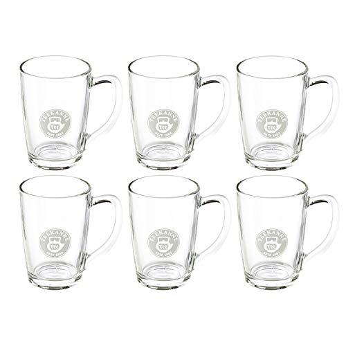 Teegläser mit Henkel 6er Set - 230 ml Teeglas aus Glas, Transparent von Teekanne