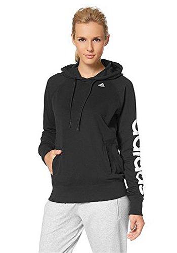 adidas Kapuzenpullover Sport Essentials Logo Hoodie - Camiseta/Camisa Deportivas para Mujer, Color Negro, Talla XL