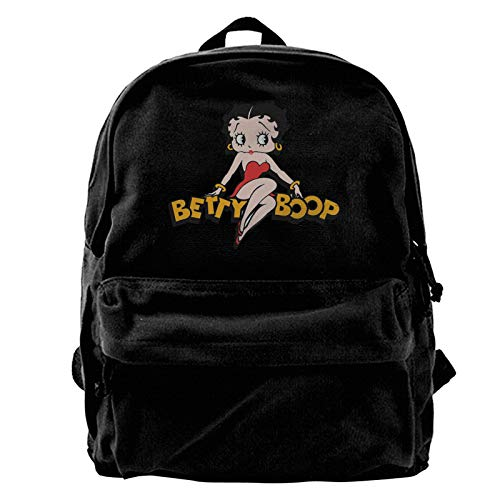 Hkdfjg Betty Boop Canvas Backpack,Travel Notebook Bag