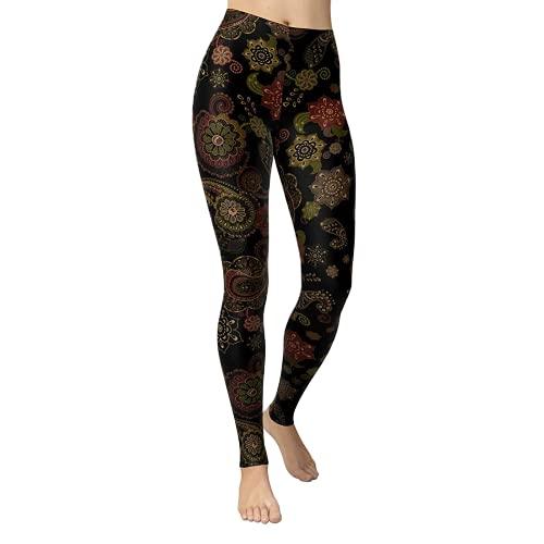 QTJY Pantalones de Yoga elásticos de Cintura Alta Ajustados a la Moda sin Costuras, Mallas Deportivas para Correr, Pantalones de Fitness C XL