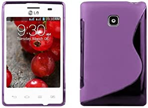 Cadorabo Case Works with LG Optimus L3 II (2. Gen.) Ultra Slim TPU Silicone Cover in Pastel Purple (Design S) – Shockproof Scratch Resistant Gel Case Protective Shell Bumper Skin Back Cover