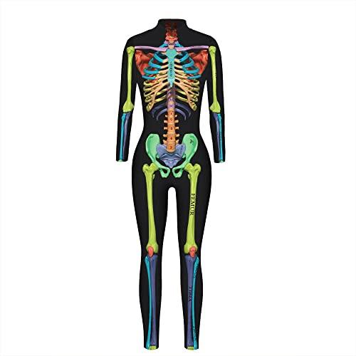 ArcherWlh Holloween,Leggings Push Up Mujer,2021 3D Mech impresin Digital Mujeres Europeas y Americanas Disfraz de Cosplay de Halloween Traje de Ventilador de Moda fresco-BAX162_L