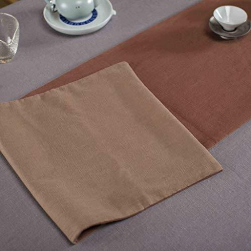 YXN N Katoenen tafelloper, retro plain thee tafelvlag woonkamer tafelkleed slaapkamer bed staart, make-uptafel sjaal, binnen, tv-kastje cover handdoek