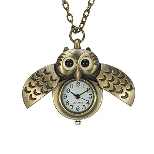 Retro Owl Pocket Watch