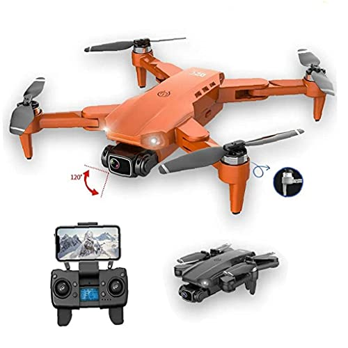 JJDSN Mini Drone GPS con videocamera Live 4K HD FPV Drone Telecomando Pieghevole Compatibile con modalità Uomo e Donna Borsa Grigia -2 Batteria