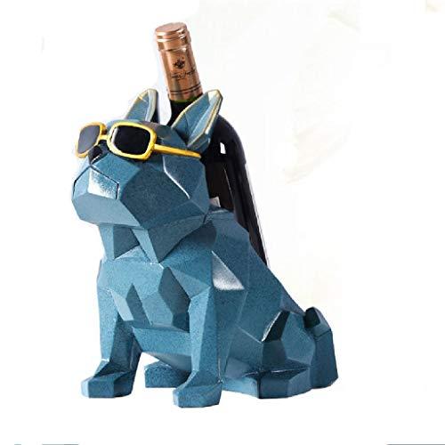 MissLi Simplicidad Moderna Bulldog botellero para Vino, Decoraciones para el hogar, Soporte para decoración del hogar, Muebles creativos para el hogar, Regalo para Fiestas