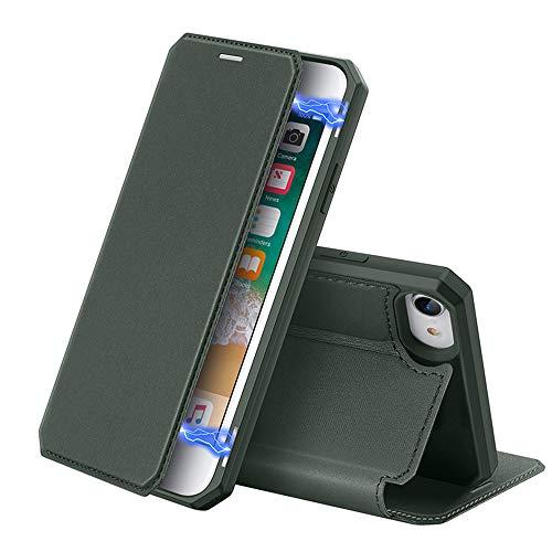Phone Case 2020 Geldt Iphone SE Iphone7 / 8 Plus Bewaker Neerzetten Weerstand Demper Beugel Card Portemonnee Kaart Pakket Telefoon-Toestellen,Green,iphone 7/8 plus