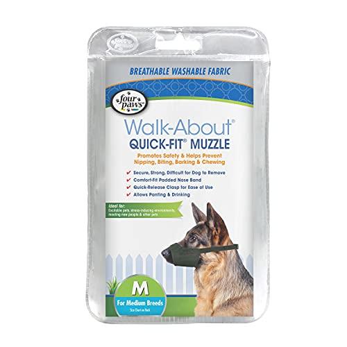 Four Paws Quick Fit Dog Muzzle, Black, Size 3