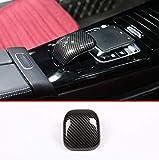 YIWANG Coque décorative en ABS pour accoudoir central de voiture - Pour Benz Classe A W177 2019 - Accessoires automobiles (fibre de carbone)