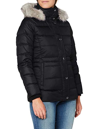 Tommy Hilfiger TH ESS Tyra Down Jkt with Fur Chaqueta, Black, S para Mujer