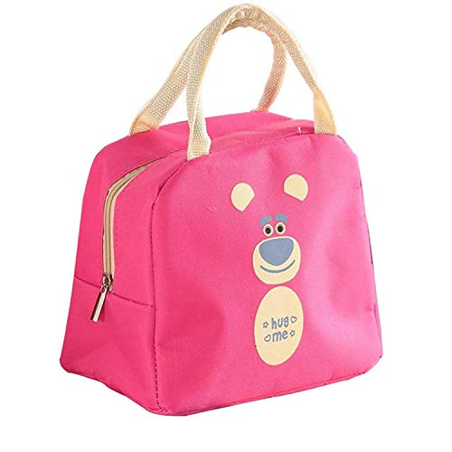 AASA Lunch Box for Girls and Boys Lunch Bags for School Lunch Bag and Box for Home and Office Use Best for Travel Purpose Pack of 1 (Pink Lunch Bag)