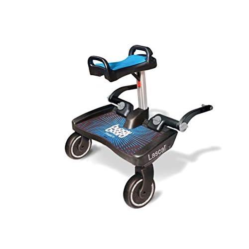 Lascal - Predellino per passeggino Buggyboard Maxi + con sellino e poggiapiedi
