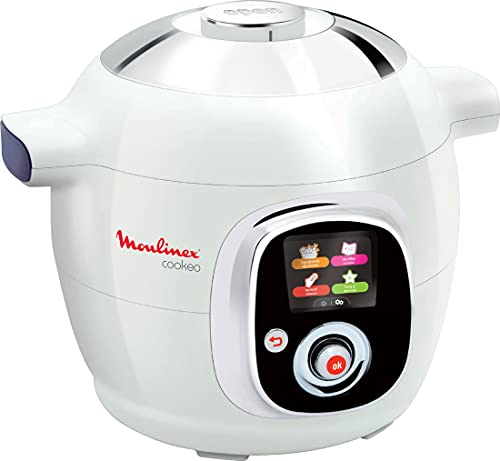 Moulinex CE704110 Cookeo Multikocher (800W, französische Version) weiß/chrom