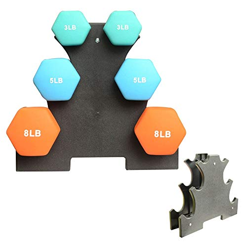 IMFUN Dumbbell Rack, Compact Dumbbell Bracket Free Weight Stand for Home Gym Black without Weights(Big Leaves)