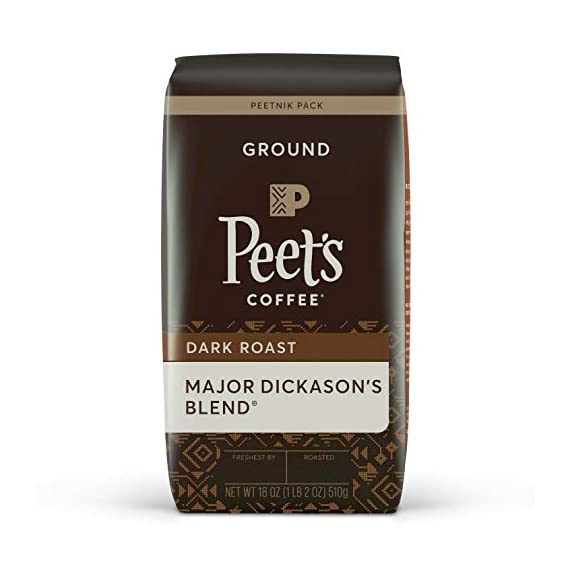 Peet's Coffee Major Dickason's Blend, Dark Roast Ground Coffee, 18 oz 1 MAJOR DICKASON'S BLEND: Conceived by Mr. Peet and his most discerning customer, Major Dickason's Blend has become the coffee that epitomizes the rich, flavorful taste of Peet's FLAVOR & ROAST: Incomparable world blend, rich, complex, and full-bodied. Dark roast PEET'S COMMITMENT: To achieve our signature rich flavor, we source the world's best coffee beans, hand-roast them in small batches, and uphold the strictest standard of freshness