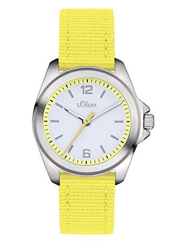 s.Oliver Unisex Analog Quarz Uhr mit Textil Armband SO-3231-LQ