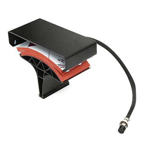 Máquina de prensa de calor de 1400W 220V ABS + Impresora de transferencia de calor de pantalla dual de acero para serigrafía para algodón y lino