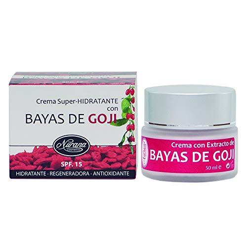 Nurana Crema Super-Hidratante con extracto de Bayas de Goji 50ml. Hidratante, Regeneradora y Antioxidante.