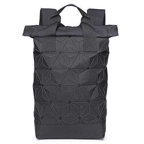 SAMJGF Leisure Backpack Diamond Shape Backpack Computer Bag Men's Backpack Travel Leisure Student Shoulder Bag, Black