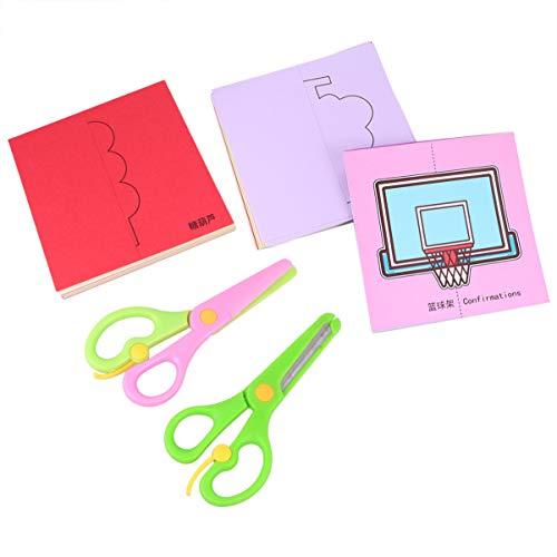 Artibetter Kinderen Leuk Papier Gesneden Set Handgeschept Papier Kunst Speelgoed Diy Student Schaar Ambachten Gift Kit Vroege Educatieve Speelbal Voor Peuter