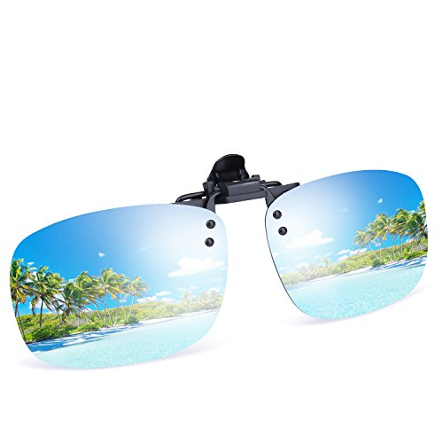 Besgoods Mirror Polarized Clip on Flip up Metal Clip Sunglasses Lens Sports