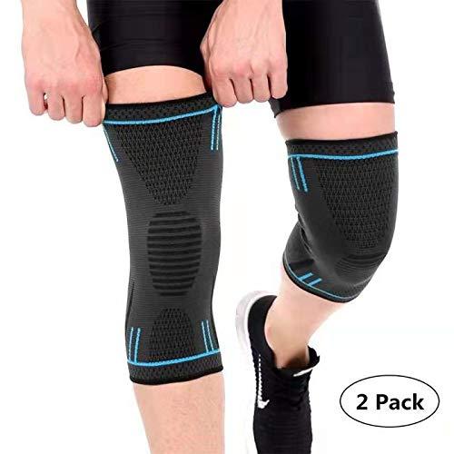 Rodilleras Deportiva 2 Pack Elástica Rodilleras Rotulianas Compresión Antideslizante Menisco Ligamento para Correr Crossfit