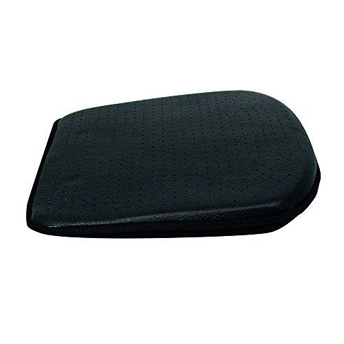 Carpoint 0323291 Luxus - Cojín para asiento (apariencia de cuero), color negro